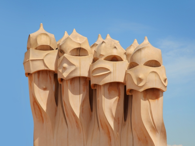 Heads of Casa Mila