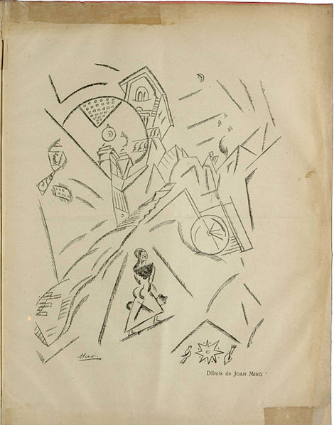Joan_Miró,_drawing,_published_in_Troços,_Segona_sèrie,_N._4,_March_1918