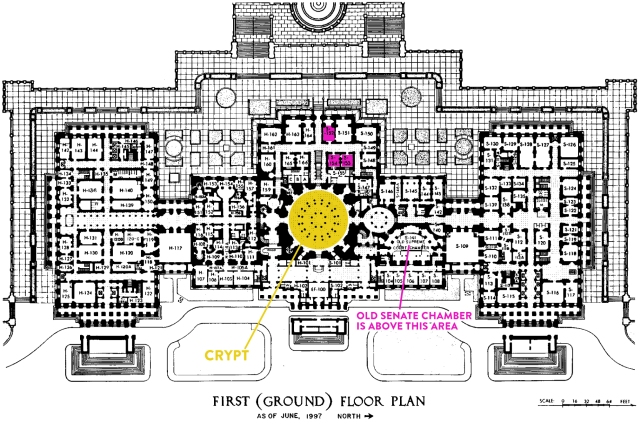 US_Capitol_first_floor_plan_1997_105th-congress-1