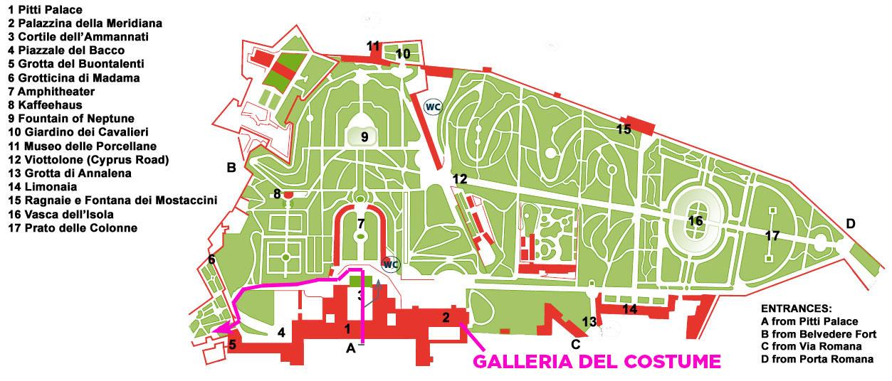 Boboli-Gardens-Map