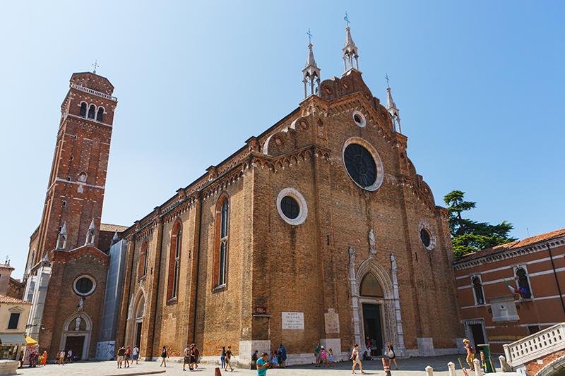 Maria Gloriosa dei Frari Church in Venice, Italy (Basilica di Sa